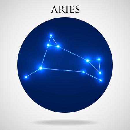 interoperability: Constellation aries zodiac sign isolated on white background, vector illustration Illustration