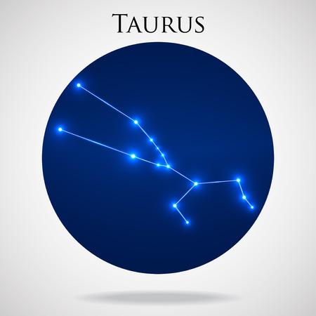 interoperability: Constellation taurus zodiac sign isolated on white background, vector illustration