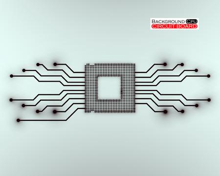 microprocessor: Cpu, microprocessor, microchip, circuit board, vector illustration, eps 10