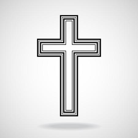 memorial cross: Cruzar. Símbolo cristiano. Ilustración del vector. Vectores