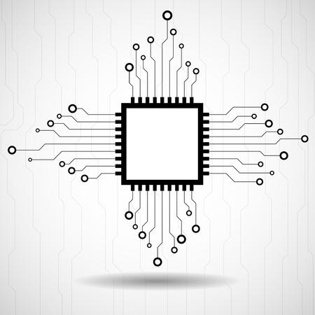microprocessor: Cpu. Microprocessor. Microchip. Circuit board