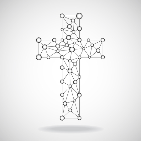 protection of the bible: Abstract cross. Christian Symbol. Vector illustration. Eps10