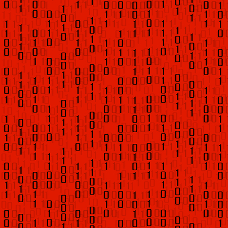 bytes: Abstract technology background with binary computer code, vector illustration
