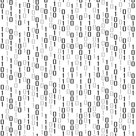 computer code: Abstract technology background with binary computer code, vector illustration
