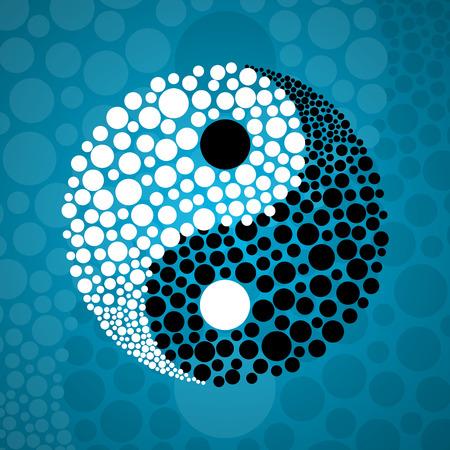 Abstract symbol Ying yang