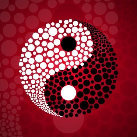 Simbolo astratto Ying yang, illustrazione vettoriale, eps 10