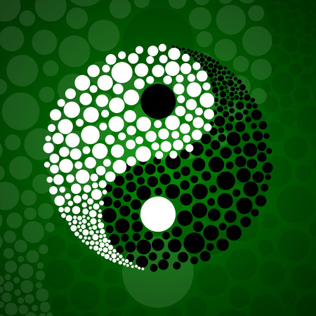 Abstract symbol ying yang of harmony and balance 矢量图像