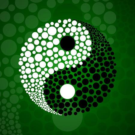 Résumé symbole ying yang de l'harmonie et de l'équilibre Vecteurs