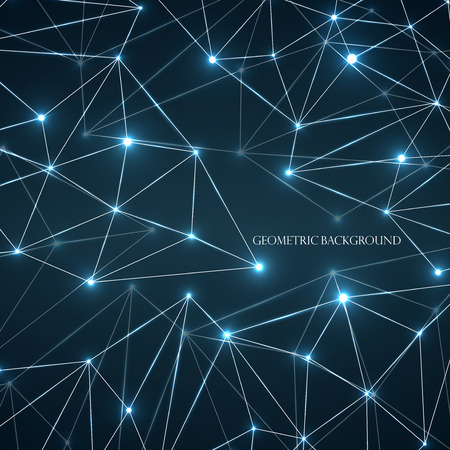 Abstract geometric background with connecting dots and lines. Modern technology concept.