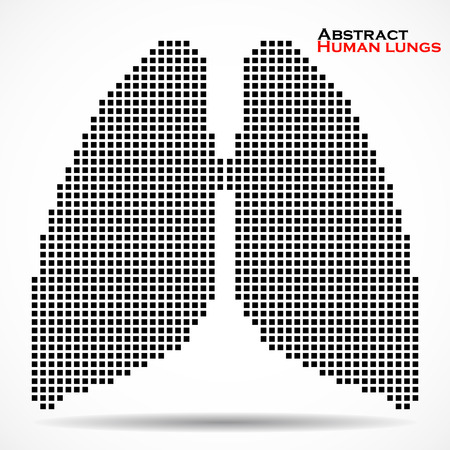 lung alveoli: Abstract human lung with pixels. Vector illustration. Eps 10 Illustration