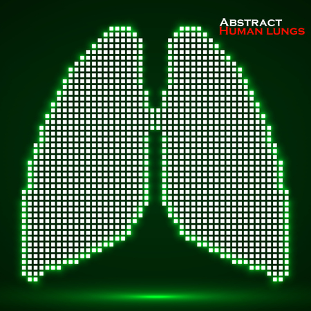 Abstract human lung with pixels. Vector illustration. Eps 10 Illustration