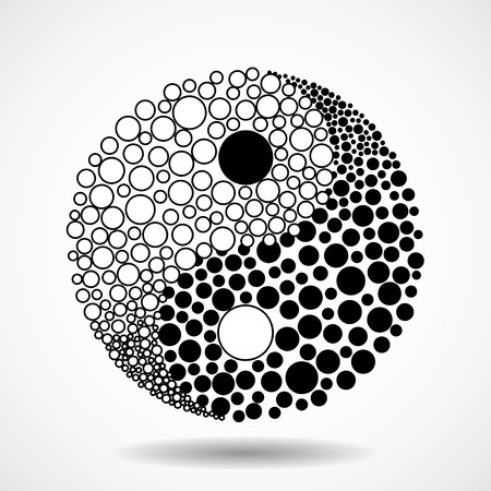 creative force: Abstract symbol ying yang of harmony and balance Illustration