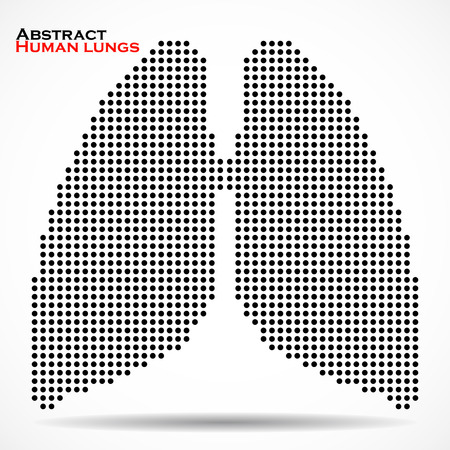 lung alveoli: Abstract human lung from dots. Vector illustration.