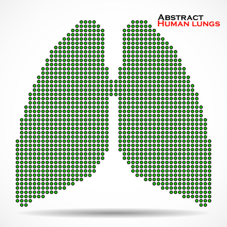 lung transplant: Abstract human lung from dots. Vector illustration. Eps 10 Illustration