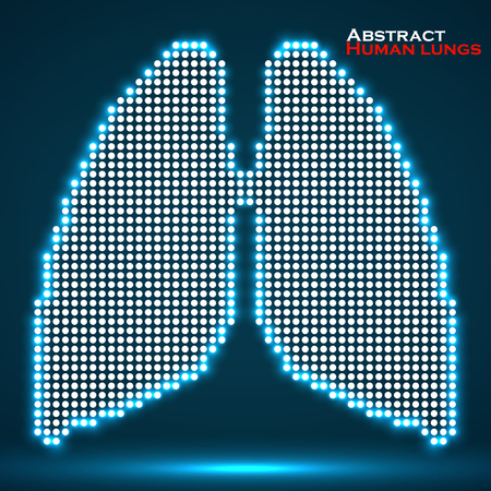 Abstract human lung from dots. Vector illustration. Eps 10 Illustration