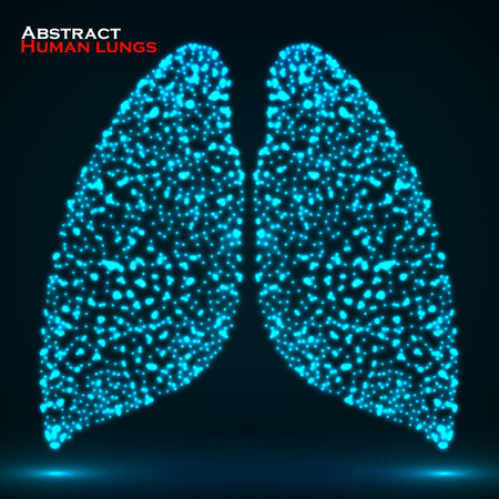 lung alveoli: Abstract glowing human lung.