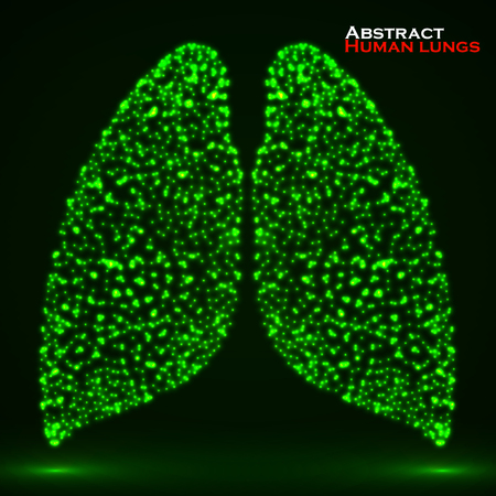 Abstract glowing human lung.