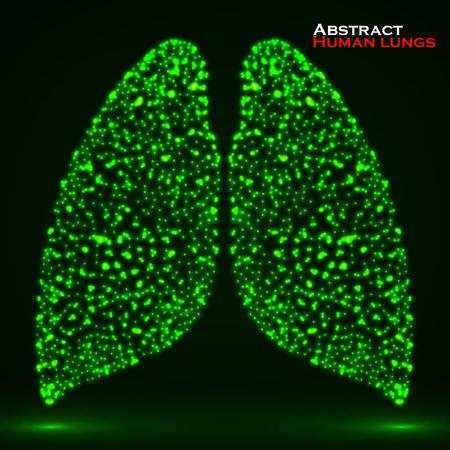alveolos: brillante resumen de pulmón humano. Vectores