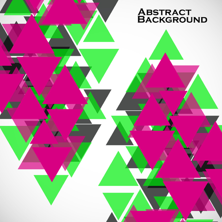 Abstract geometric background with triangles. Modern style. Illustration