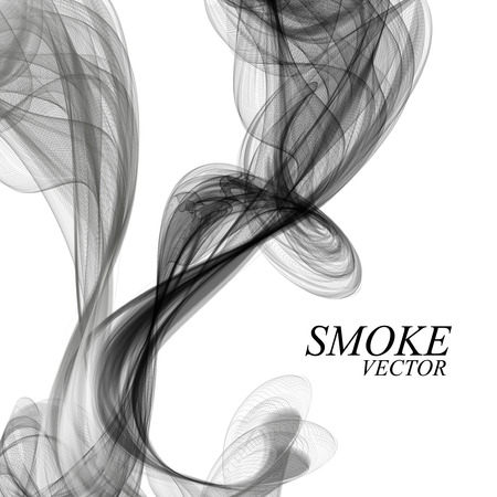cigar shape: Abstract black smoke on white background, vector illustration eps 10