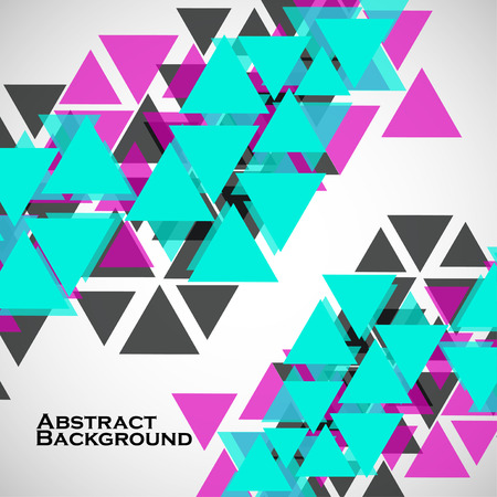 Abstract geometric background with triangles. Modern style. Vector illustration. Eps 10