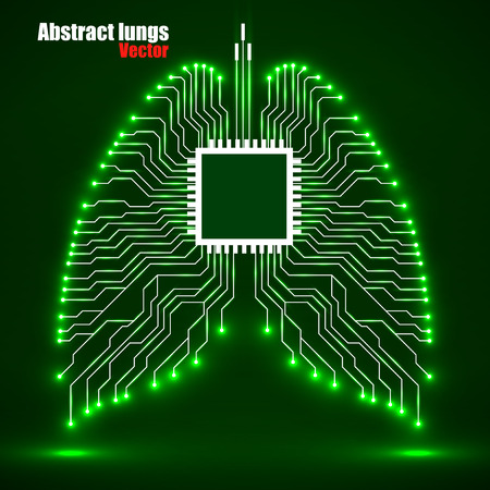 Abstract human lung, technology vector illustration eps 10 Vettoriali