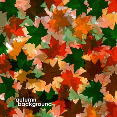 colofrul: Autumn background of maple leaves. Colofrul image, vector illustration eps 10