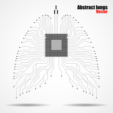 electronical: Abstract human lung, technology, vector illustration eps 10 Illustration