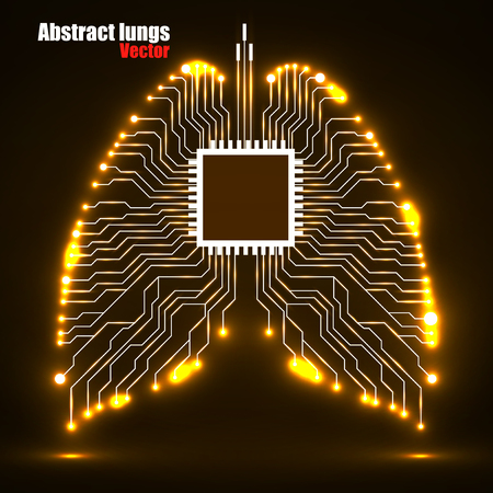 Abstract human lung, technology, vector illustration eps 10 Illustration