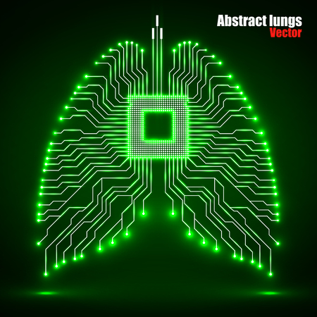 Abstract human lung, technology background, vector illustration eps 10