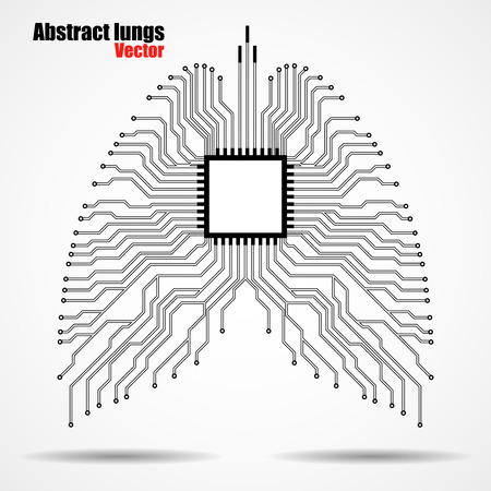 electronical: Abstract human lung, technology background,  illustration eps 10