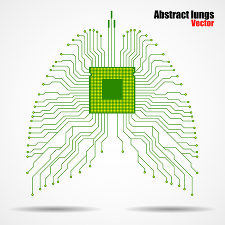 Abstract human lung, technology background,  illustration eps 10