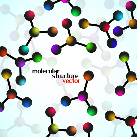 Molecule structure. DNA. Abstract background.  illustration. Eps10
