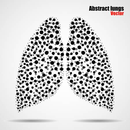 Abstract human lungs of colorful circles.  illustration. Eps 10 Illustration