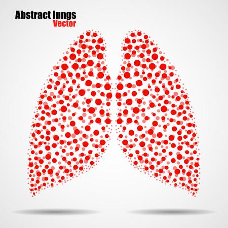 alveolos: pulmones humanos abstractos de círculos de colores. ilustración. eps 10