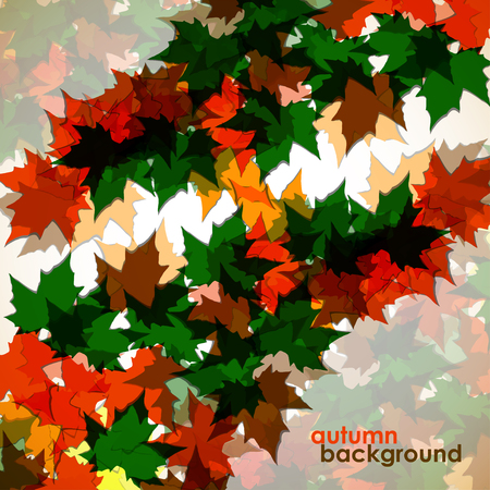 colofrul: Autumn background of maple leaves. Colofrul image, vector illustration eps 10