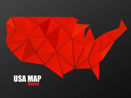 USA map in geometric polygonal style, geometric design, vector illustration, eps 10 Illustration