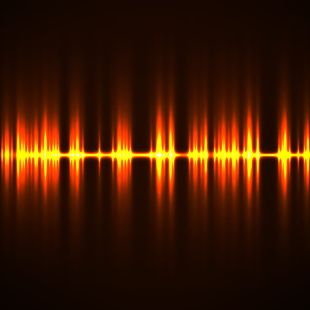 radio beams: Abstract technology background with wave as equalizer