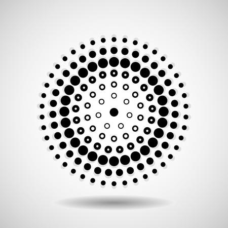 Abstract dotted circles. Dots in circular form. Vector design element Vektoros illusztráció