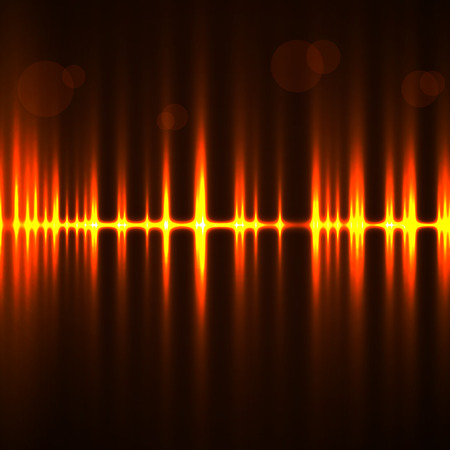 Abstract technology background with wave as equalizer