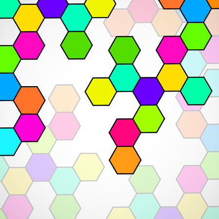 Hexagonal molecule structure of DNA. Geometric abstract background. Vector illustration. Eps 10