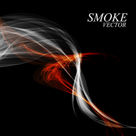 Abstract colorful smoke isolated on black