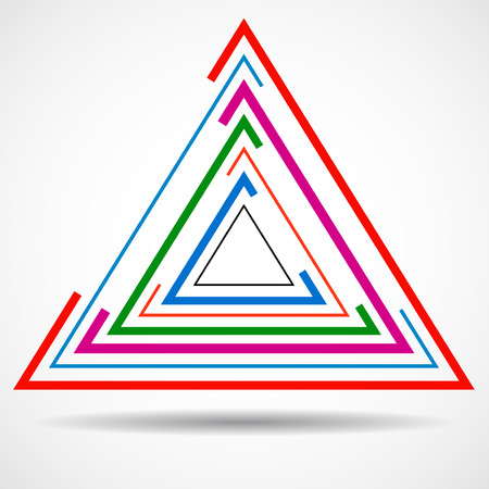 abstract: Abstract technology triangle with lines, geometric
