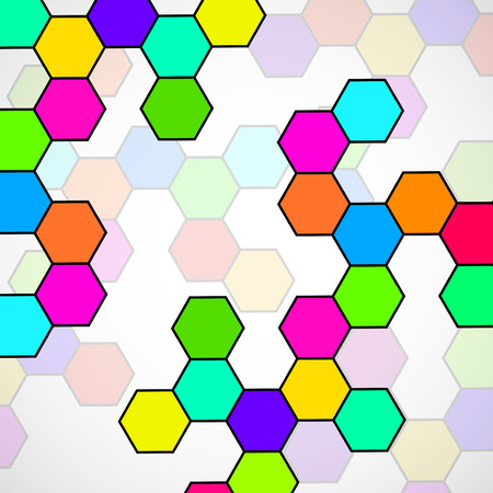 Hexagonal molecule structure of DNA. Geometric abstract background.