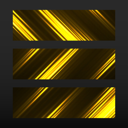 mirage: Banner with glowing lines, neon stripes. Abstract background Illustration