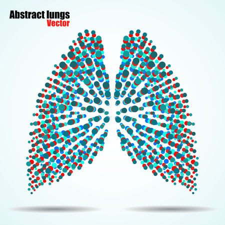 Abstract human lungs of colorful circles. Vector illustration. Eps 10 Illustration