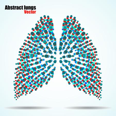 alveolos: Resumen pulmones humanos de círculos de colores. Ilustración del vector. Eps 10 Vectores