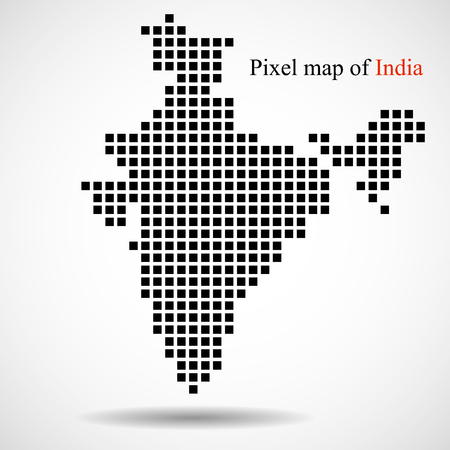 Pixel map of India