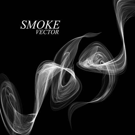 smell of burning: Abstract smoke isolated on black
