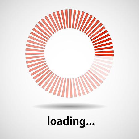 Loading icon. Indicator for loading progress. Vector Illustration